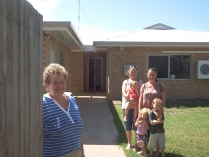Denise Marshall and family members are pleased their donations can help in the renovations of the new Rotary Lodge.