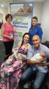 Margaret Wass, Deb Coulbourne from Coral Coast Pharmacies with Jessie, Driss and bay Aimira.