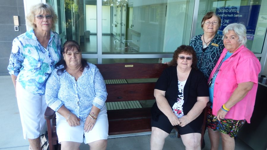 Wooden bench will help cancer patients